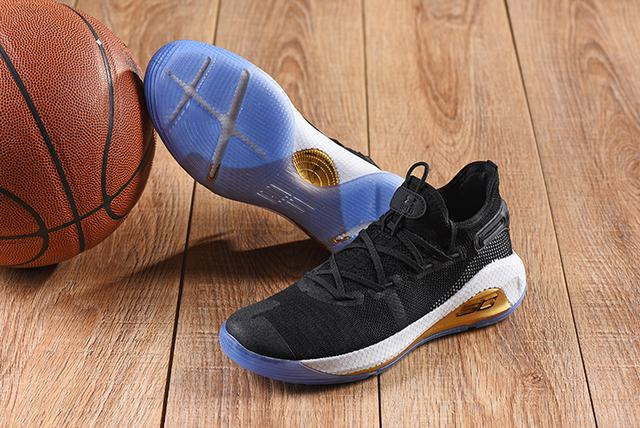Curry 6 Shoes Low Black White Gold Blue